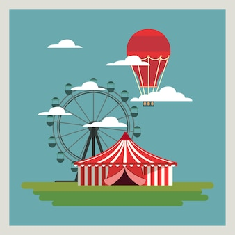 Conception de carnaval de cirque