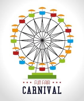 Conception de carnaval sur illustration vectorielle fond blanc