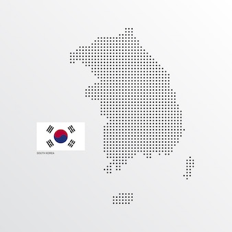 Conception de carte de corée du sud