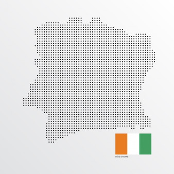 Conception de la carte côte d'ivoire
