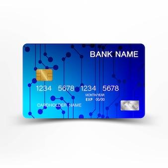 Conception de carte de crédit bleue.