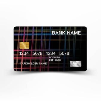 Conception de carte de crédit colorée.