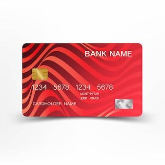 Conception de carte de crédit de couleur rouge.
