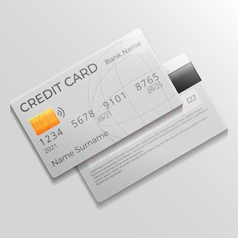 Conception de carte de crédit réaliste
