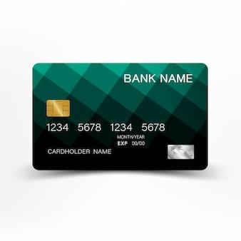 Conception de carte de crédit verte.
