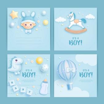Conception de carte de douche de bébé