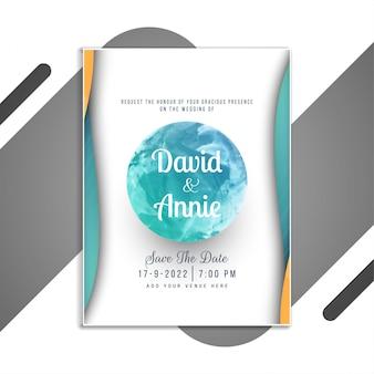 Conception de carte élégante invitation de mariage abstrait