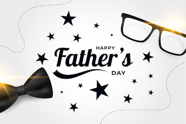 Conception de carte de fête des pères heureux réaliste
