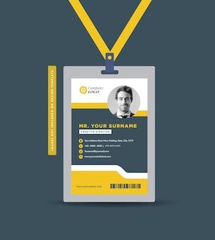 Conception de carte d'identité d'entreprise ou carte de visite et conception de carte de visite personnelle
