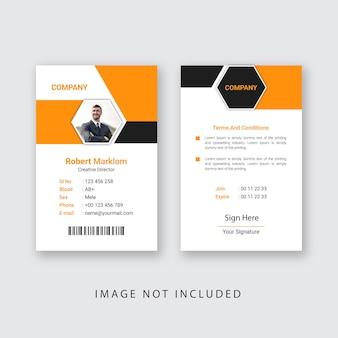 Conception de carte d'identité d'entreprise eps
