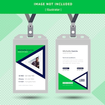 Conception de carte d'identité verte