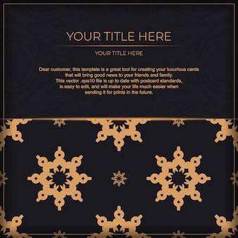 Conception de carte d'invitation luxueuse avec ornement vintage abstrait. peut être utilisé comme arrière-plan et fond d'écran. éléments vectoriels élégants et classiques prêts pour l'impression et la typographie.
