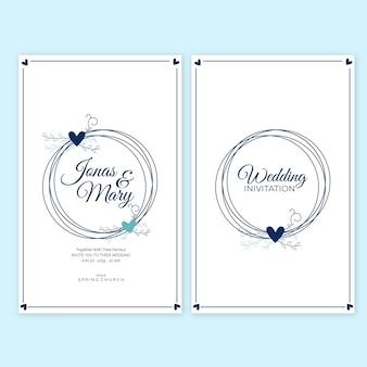 Conception de carte d'invitation de mariage floral