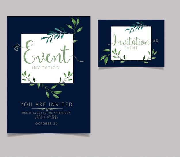 Conception de carte d'invitation modifiable avec