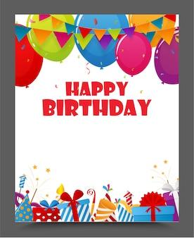 Conception de carte de joyeux anniversaire célébration