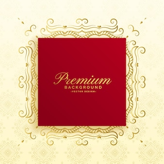 Conception de carte de luxe royal premium