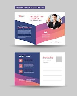 Conception de carte postale d'entreprise ou carte d'invitation save the date ou conception eddm de publipostage