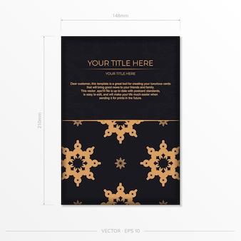 Conception de carte postale luxueuse avec des ornements indiens vintage. peut être utilisé comme arrière-plan et fond d'écran. éléments vectoriels élégants et classiques prêts pour l'impression et la typographie.