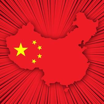 Conception de carte pour le jour de l'indépendance de la chine