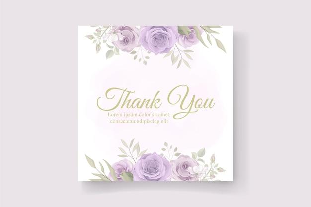 Conception de carte de remerciement sur un thème de fleur