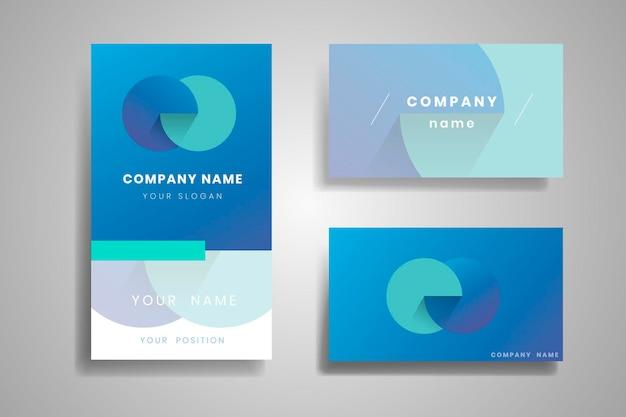 Conception de carte de visite bleue