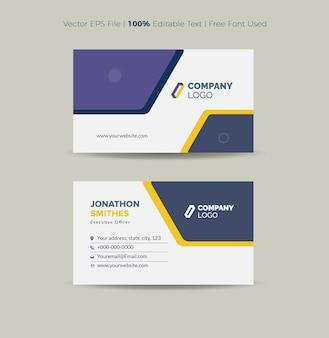 Conception de carte de visite ou carte de visite et carte personnelle