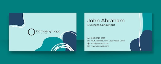 Conception de carte de visite et de carte de visite créative à la mode. modèle de carte de visite bio floral avec concept d'entreprise moderne
