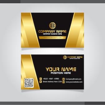Conception de carte de visite créative élégante d'or