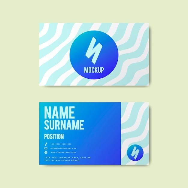 Conception de carte de visite créative de style memphis aux couleurs vives