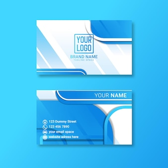 Conception de carte de visite d'entreprise avec double face pour la publicité.