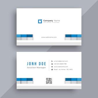 Conception de carte de visite d'entreprise