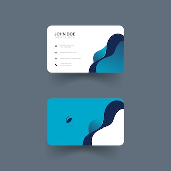 Conception de carte de visite avec des formes de vague carte de visite moderne