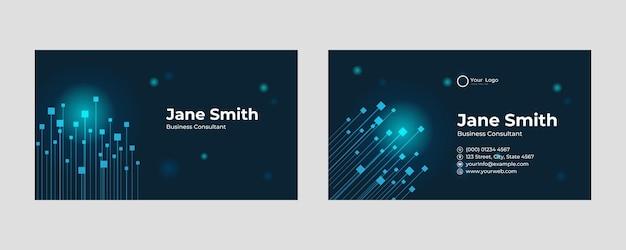 Conception de carte de visite futuriste. forme moderne avec concept abstrait de jeu et de technologie. fond dégradé sombre de luxe. modèle d'impression d'illustration vectorielle