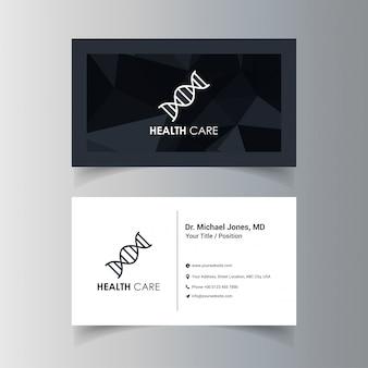 Conception de carte de visite avec le logo de l'entreprise et le vecteur de thème sombre
