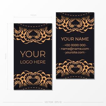 Conception de carte de visite luxueuse avec des ornements vintage abstraits. peut comme arrière-plan romain et papier peint. les éléments élégants et classiques sont parfaits pour la décoration.