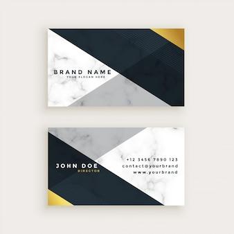 Conception de carte de visite en marbre de style minimal