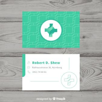 Conception de carte de visite médicale professionnelle moderne