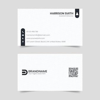 Conception de carte de visite noir et blanc, modèle de carte de visite de style juridique de cabinet d'avocats