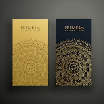 Conception de carte de visite premium mandala