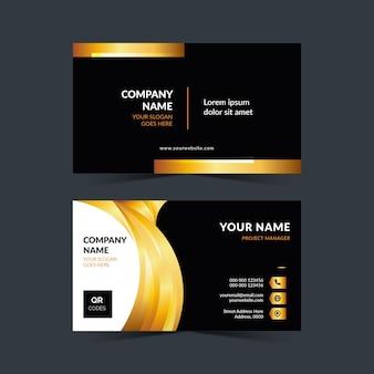 Conception de carte de visite professionnelle en couleur or
