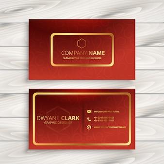 Conception de carte de visite de société rouge de luxe