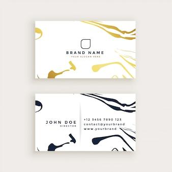 Conception de carte de visite de style minimal