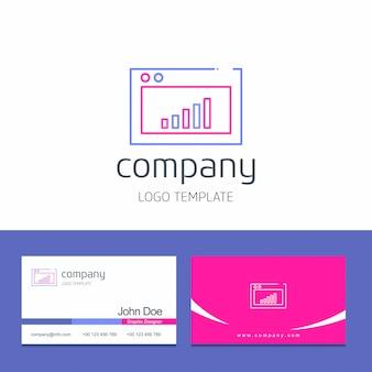 Conception de carte de visite avec vecteur de logo de bureau