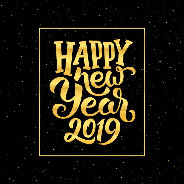 Conception de carte de voeux bonne année 2019 vectorielles