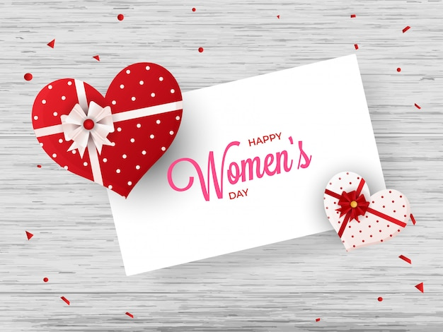 Conception de carte de voeux happy women's day avec illustration de entendre