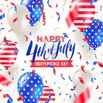 Conception de carte de voeux pour le jour de l'indépendance du 4 juillet