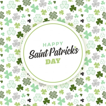Conception de carte de voeux saint patrick's day