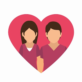 Conception de cartes d'amour