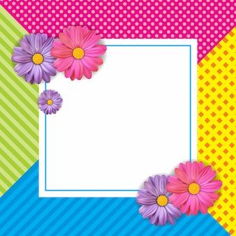 Conception de cartes avec belle fleur colorée