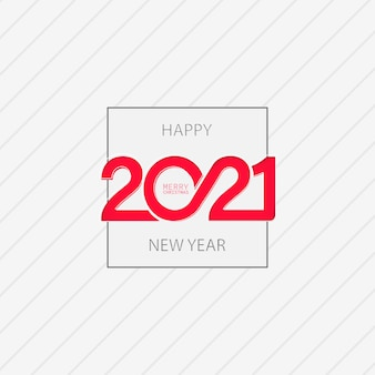 Conception de cartes de bonne année 2021. vecteur sur fond blanc isolé. eps 10.